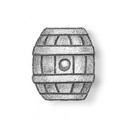 Oval deck keg cast metal 13 mm