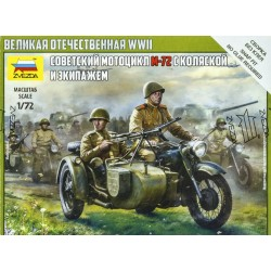 Soviet Motorcycle M-72 with...