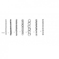 Brass chain 1x1000 mm F type