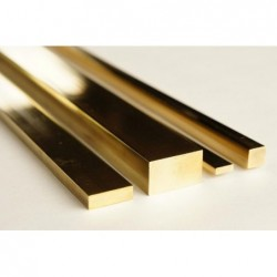 Brass strip 500x1,5x1,5 mm