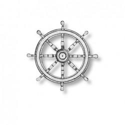 Ships wheel bronze 8 spoked...