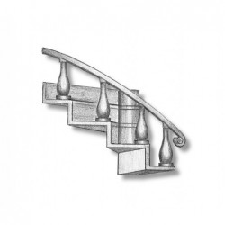 Curved companionway ladder...