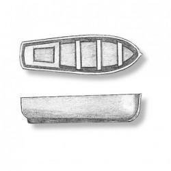 Scialuppa in plastica 28 mm