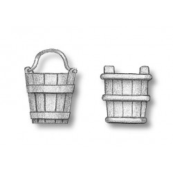 Bucket wood without handle...