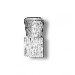 Single bollard wood 9 mm