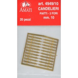 Photoeteched 2 holes brass...