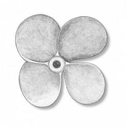 4 bladed bronze propeller...