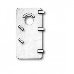 Porta in metallo 13 x 25 mm