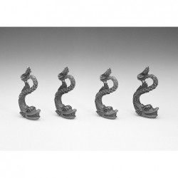 Set delfini in metallo 4 pezzi