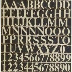 Lettere e numeri in ottone...