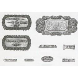 Name Plate Vascello(Vessel)...