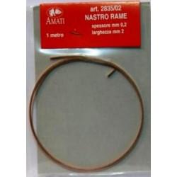 Copper strip 2 mm wide x...