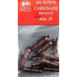 Carronade bronzata 25 mm