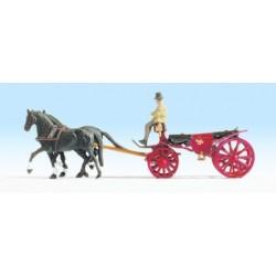 Carrozza con cavalli HO