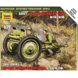 SOVIET 76MM GUN WITH CREW 1/72