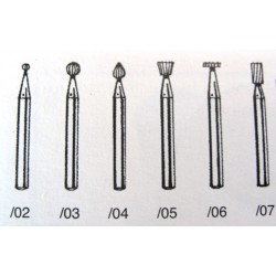 Steel burs for drill