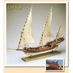 Xebec Armed Vessel Plans set