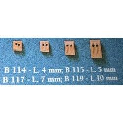 Bozzelli 2 fori 7 mm 50 pezzi