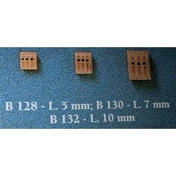 Bozzelli 3 fori 7 mm 50 pezzi