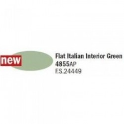 Flat Italian interior Green...