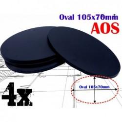 4 basi ovali in plastica...