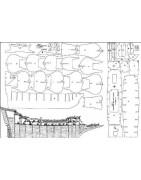 Modellismo navale statico piani di costruzione disegni progetti modelli in scala navi velieri in legno Amati Corel Mantua Mamoli