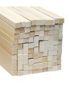 Wood squared strips
