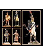 Resin and metal casted miniatures and figures collection to paint and collect